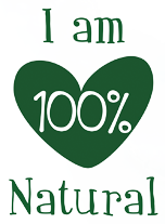 logo I am 100% Natural